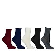 Steven by Steve Madden 5-pack Textured Crew Socks