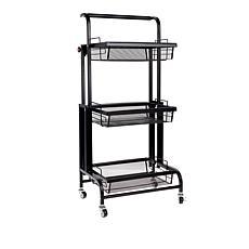 StoreSmith 3-Tier Pivoting Utility Storage Cart
