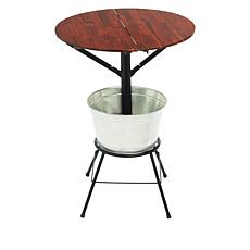 StoreSmith Folding Round Bar Table with Ice Bucket