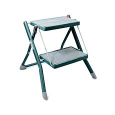 StoreSmith Metal 2-Tier Folding Step Ladder
