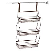StoreSmith Over-the-Door Collapsible 3-Tier Baskets
