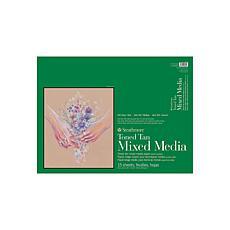 "Strathmore 400 Series 18"" x 24"" Toned Mixed Media Pad - Tan/15 sheets"