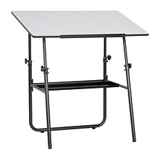 Studio Designs Black/White Foldable Table w/ Adjustable Top & Height