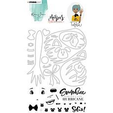 Studio Light Karin Joan Clear Stamp & Die Cut Tasha Missees No. 04
