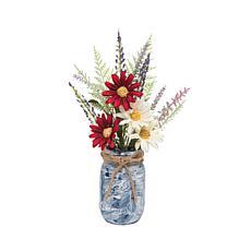 Summer Floral Mason Jar