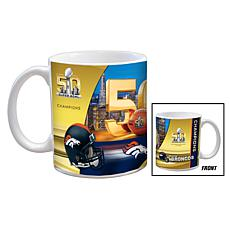 Super Bowl 50 Champions 11 oz. Ceramic White Mug 2pk