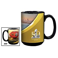 Super Bowl 50 Set of 2 Ceramic Black Mugs - 15 oz.