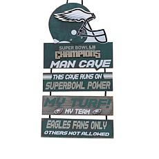 Super Bowl LII Champions Wooden Man Cave Sign