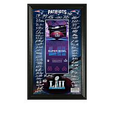Super Bowl LII Signature Ticket in Display Frame