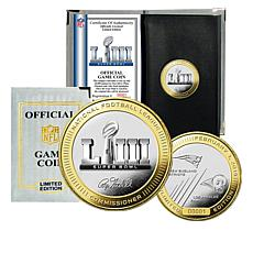Super Bowl LIII Official Two-Tone Flip Coin by The Highland Mint