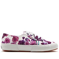 Superga Floral-Print Satin Low-Top Sneaker