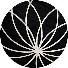 Surya Forum Black Rug - 8' Round