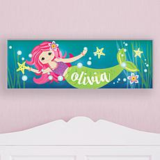 Sweet Mermaid Personalized 9x27 LED Canvas