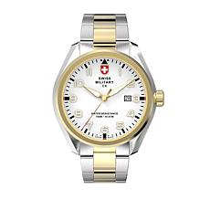 "Swiss Military by Charmex Men's ""Pilot"" 2-tone Bracelet Watch"