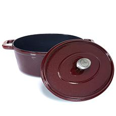 Symon Home 4.5-Quart Enameled Cast Iron Oval Dutch Oven
