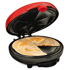 Taco Tuesday 6-Wedge Electric Quesadilla Maker w/Extra Stuffing Latch