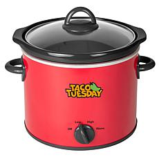 Taco Tuesday TTRSC4RD 4-Qt. Fiesta Slow Cooker