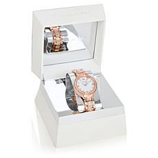 Tahari Rosetone Women's Crystal-Accented Bracelet Watch