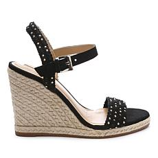 Tahari Walsh Quarter-Strap Wedge Sandal with Studs