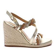Tahari Waver Leather Wedge Sandal