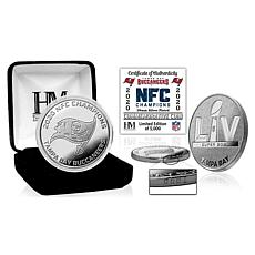 Tampa Bay Buccaneers 2020 NFC Champions Silver Mint Coin