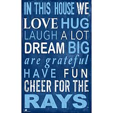 Tampa Bay Rays In This House Sign