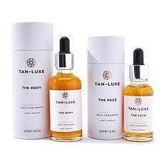 Tan-Luxe Face & Body Self-Tan Drops Duo - Light/Medium