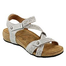 Taos Footwear Trulie Leather Wedge Sandal
