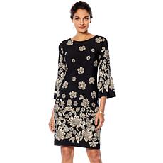 Tash + Sophie Bell Sleeve Puff Print Floral Dress