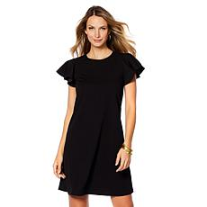 Tash + Sophie Knit Crepe Dress