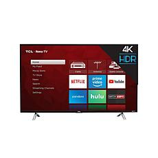 "TCL 49"" 4-Series 4K UHD LED Roku Smart TV w/HDMI Cord, 2-Year Warranty"