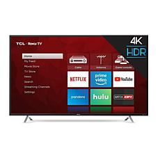 "TCL 55"" S-Series 4K UHD LED Roku Smart TV w/HDMI Cord, 2-Year Warranty"