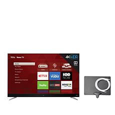 "TCL 65"" 4K Roku Smart TV w/2-Year Warranty and Antenna"