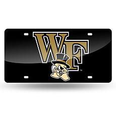 Team Colored Laser Tag License Plate - Wake Forest University (Black)