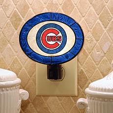 Team Glass Nightlight - Chicago Cubs