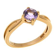 Technibond® 0.75ctw Amethyst Birthstone Ring