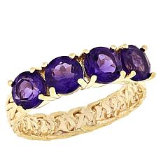 Technibond® Amethyst Wheat Link Band Ring
