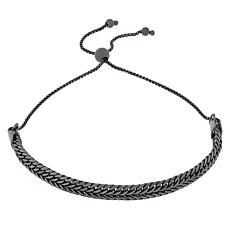 Technibond® Black Woven Chain Adjustable Bracelet