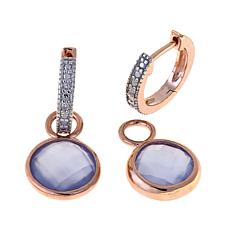 Technibond®  Chalcedony Diamond-Accented Earrings