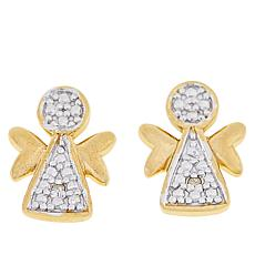 Technibond® Diamond-Accented Angel Stud Earrings