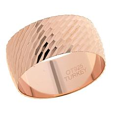 Technibond® Diamond-Cut Band Ring - Rose