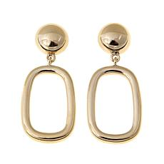Technibond® Elongated Square Drop Earrings