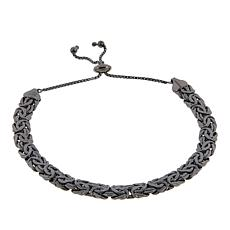 Technibond® Flat Byzantine Adjustable Bracelet - Black