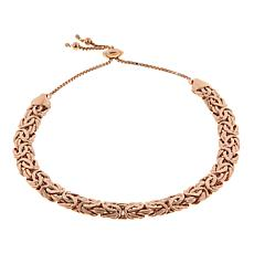 Technibond® Flat Byzantine Adjustable Bracelet - Rose
