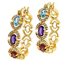 Technibond® Multigemstone Hoop Earrings