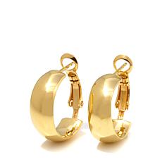 Technibond® Polished Wide Hoop Earrings