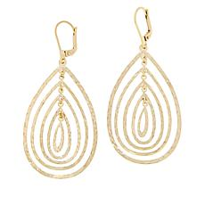 Technibond® Reversible Layered Pear Drop Earrings