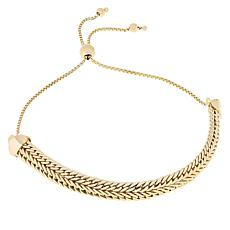 Technibond® Yellow Woven Chain Adjustable Bracelet