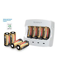 Tenergy Rechargeable Battery Kit with Charger and Batteries