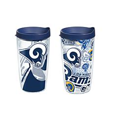Tervis NFL 16 oz All Over and Genuine Tumbler Set - Los Angeles Rams